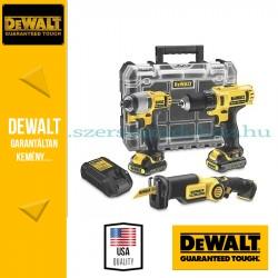 DeWalt 3 részes akkus gépszett DCK310C2T-QW