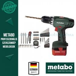 Metabo BS 12 NiCd Akkus fúrócsavarbehajtó szerszámkészlettel