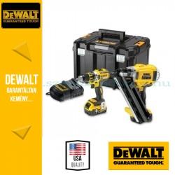 DeWalt Szögezőgép + Fúró-csavarozó DCK262P2-QW