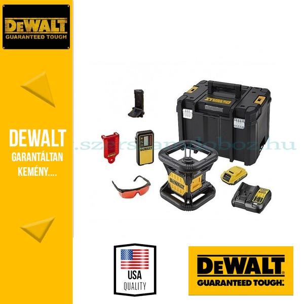 DeWalt DCE079D1R-QW Önbeálló piros színű forgólézer