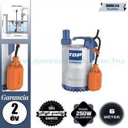 Pedrollo TOP 1 Elektromos Vízmentesítő Merülőszivattyú tiszta vízhez